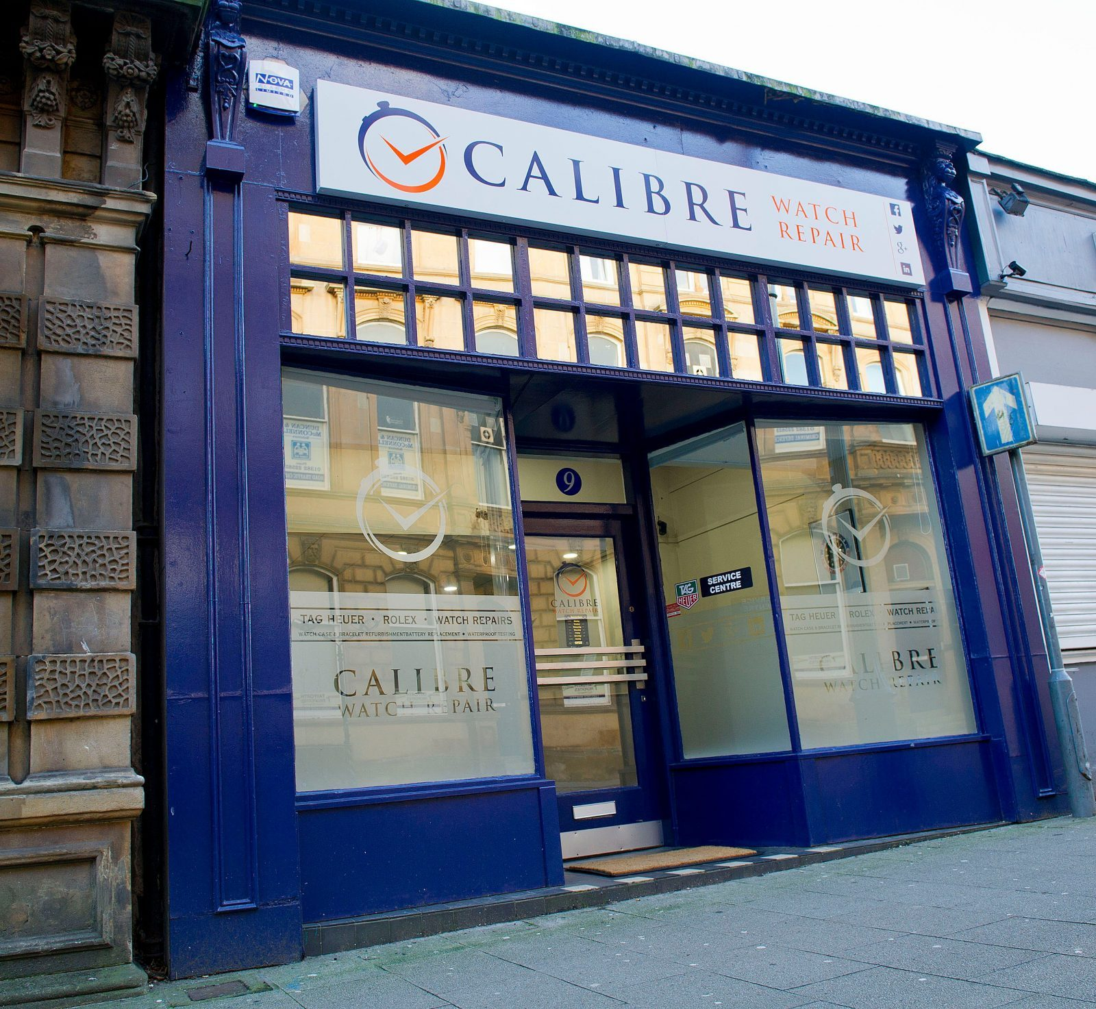 outside calibre watch repair shop