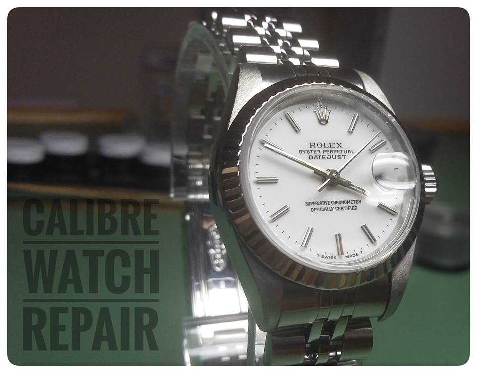 calibre rolex repair watch just serviced